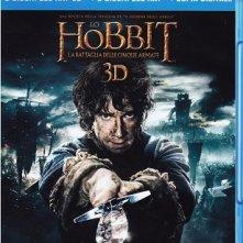 La cover del blu-ray di Lo Hobbit: la battaglia delle Cinque Armate