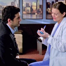 Grey's Anatomy: Derek e Meredith in un momento dell'episodio intitolato Ora o mai più