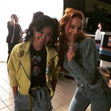 X-Men: Apocalypse: Lana Condor e Sophie Turner sul set del film