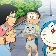 Doraemon Il Film - Le Avventure di Nobita e dei Cinque Esploratori: Nobita e Doraemon in una scena del film animato