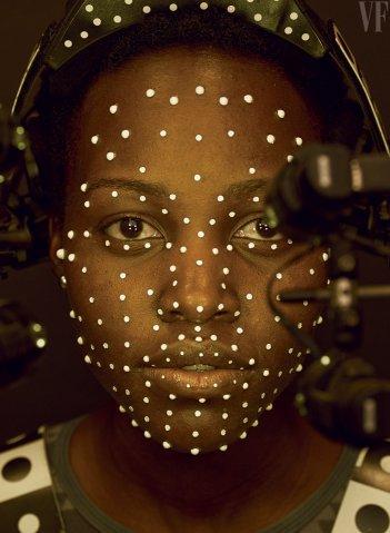 Star Wars: Episodio VII - Il Risveglio della Forza - Lupita Nyong'o durante le riprese