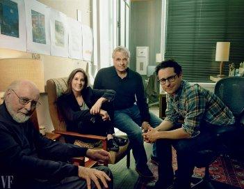 Star Wars: Episodio VII - Il Risveglio della Forza - Il regista J.J. Abrams e il suo team in una foto di Vanity Fair