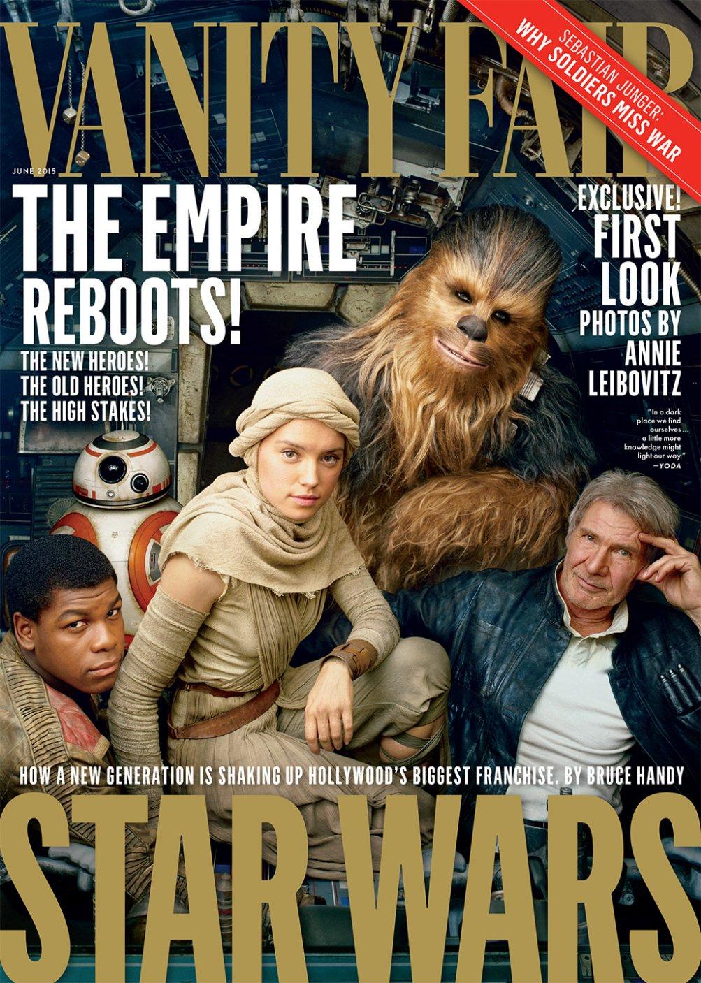 Star Wars: ep. VII - il risveglio della forza: la cover di Vanity Fair USA