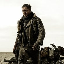 Mad Max: Fury Road, Tom Hardy in un momento del film action fantascientifico
