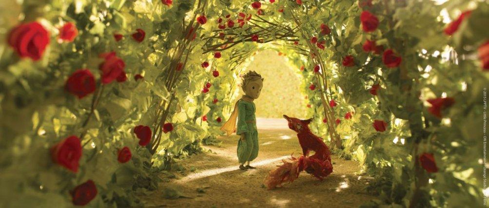Il Piccolo Principe: il piccolo principe con la volpe in una scena del film d'animazione