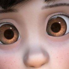 Il Piccolo Principe: lo sguardo sveglio della bambina protagonista in una scena del film
