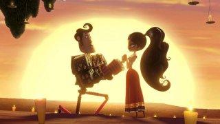 Il Libro della Vita: Maria corteggiata da Manolo in una romantica scena del film