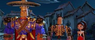 Il Libro della Vita: Joaquin con Manolo e Maria in una scena del film