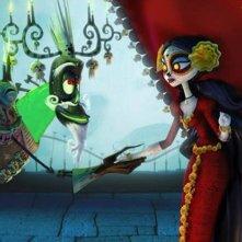 Il Libro della Vita: la Regina Morte e Xibalba in una scena del film
