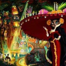 Il Libro della Vita: la Regina Morte in una coloratissima immagine del film