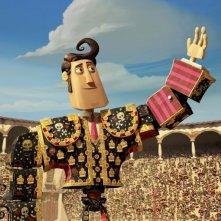 Il Libro della Vita: Manolo saluta la folla in una scena del film