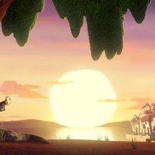 Il Libro della Vita: Manolo suona al tramonto in una scena del film