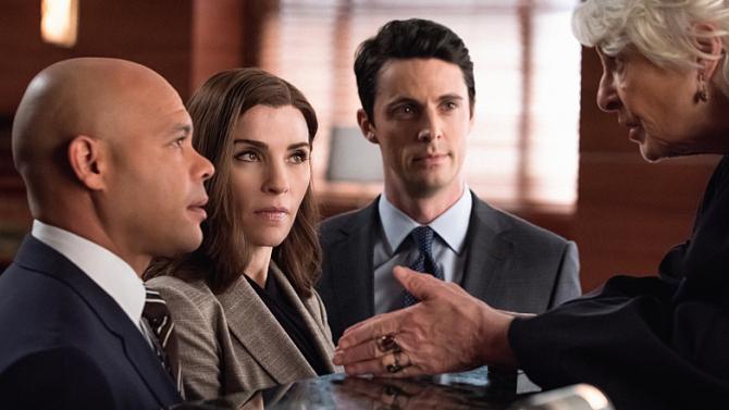 The Good Wife: Julianna Margulies e Matthew Goode in una scena dell'episodio Wanna Partner?
