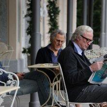 Youth - La giovinezza: Michael Caine con Paul Dano e Harvey Keitel in una scena del film