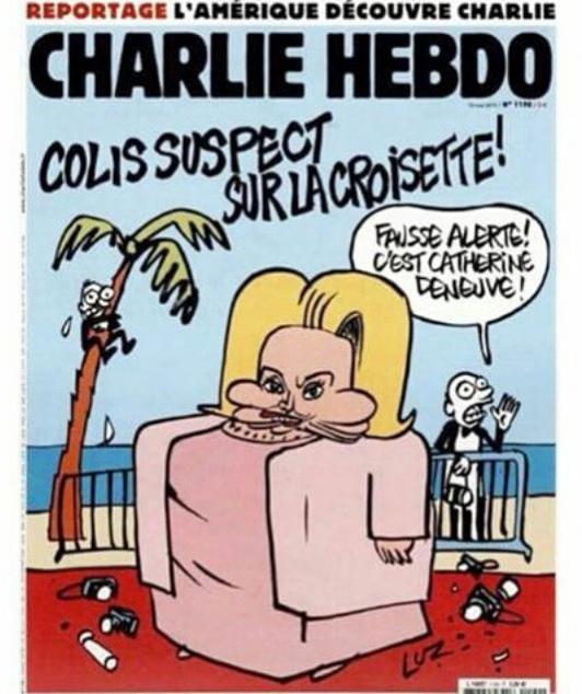 Standing Tall: una vignetta di Charlie Hebdo realizzata da Luz ironizza su Catherine Deneuve