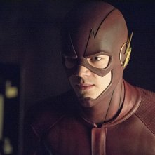 Arrow: Grant Gustin in una scena dell'episodio My Name Is Oliver Queen