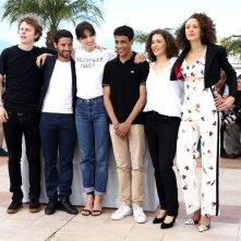 Cannes 2015 - Norman Thavaud, Abdel Addala, Maiwenn, Nabil Kechouhen, Amanda Added, e Chrystele Saint Louis Augustin al photocall di Mon Roi