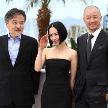 Cannes 2015 - Kiyoshi Kurosawa, Eri Fukatsu e Tadanobu Asano al photocal di Journey To The Shore