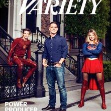 La copertina di Variety con Grant Gustin, Greg Berlanti e Melissa Benoist