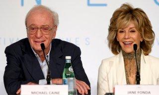 Youth - La giovinezza: Michael Caine e Jane Fonda in conferenza a Cannes