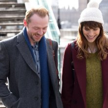 Simon Pegg e Lake Bell in una scena del film Man Up