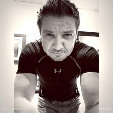 Captain America: Civil War - Jeremy Renner sul set