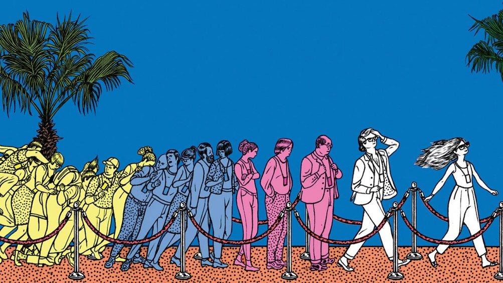 Un'immagine di The Hollywod Reporter che spiega la situazione badge di Cannes
