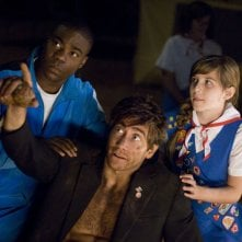 Accidental Love: Jake Gyllenhaal con Tracy Morgan e Olivia Crocicchia in una scena del film