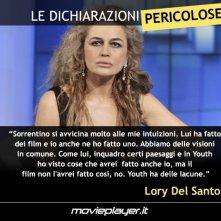 Lory Del Santo su Youth di Paolo Sorrentino - Le dichiarazioni pericolose