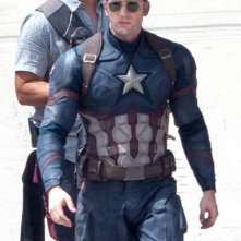 Captain America: Civil War - Chris Evans sul set del film