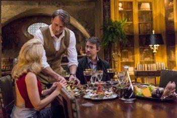 Hannibal:  Gillian Anderson, Mads Mikkelsen, Tom Wisdom in Antipasto