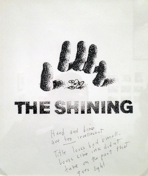 Shining - bozza del poster firmata da Bass con note di Kubrick