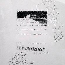 Shining - bozza del poster firmata da S. Bass con note autografe di Kubrick