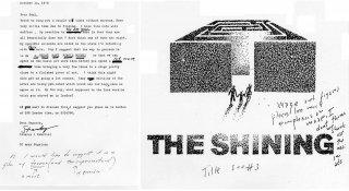Shining - bozza manifesto di Saul Bass con note di Kubrick