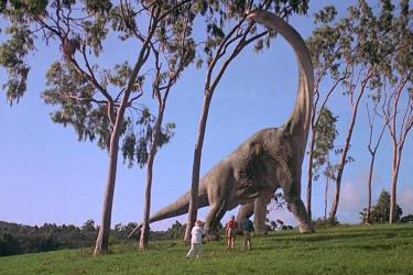 Jurassic Park: la prima apparizione del Brachiosauro