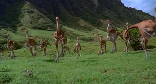 Jurassic Park: Gallimimus al galoppo