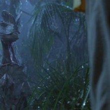 Jurassic Park: un'immagine del dilofosauro
