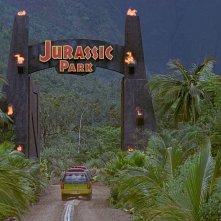 Una scena di Jurassic Park