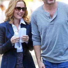 X-Files: Gillian Anderson e David Duchovny in un momento di pausa