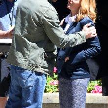 X-Files: David Duchovny stringe Gillian Anderson sul set canadese di Vancouver