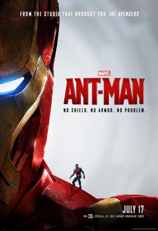 Ant-Man: il poster con Iron Man