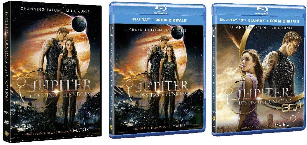 Le cover homevideo di Jupiter - Il Destino dell'Universo