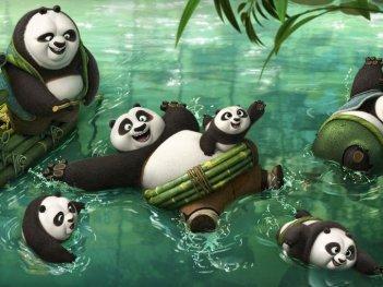 Kung Fu Panda 3: una simpatica immagine ambientata nel villaggio dei panda