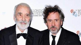 Christopher Lee e Tim Burton al London Film festival