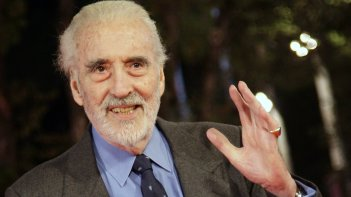 Un'immagine del compianto Christopher Lee