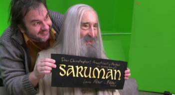 Lo Hobbit: La battaglia delle cinque armate: Peter Jackson festeggia Christopher Lee