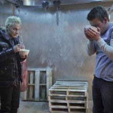iZombie: David Anders e Robert Buckley nel finale di stagione 1