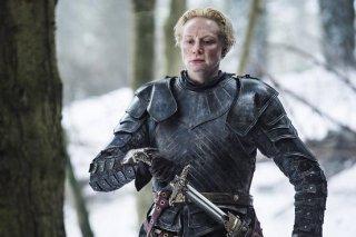 Il trono di spade: l'attrice Gwendoline Christie in una scena del season finale