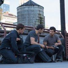 Tracers: Taylor Lautner, Adam Rayner e Rafi Gavron in una scena