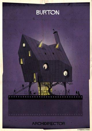 Federico Babina, la casa ispirata a Tim Burton
